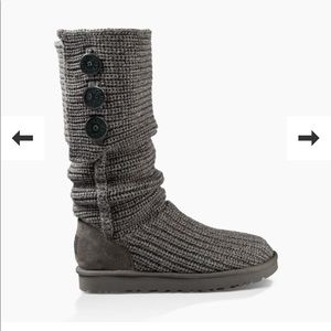 Knee High Knit UGG Gray Boots